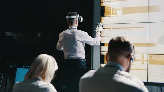 Thumbnail for Mars Mission Leader Using VR Headset