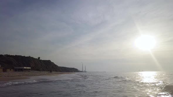Thumbnail for Surf at Coastline of Mediterrian Sand Beach