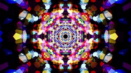 Colorful Stained Glass Kaleidoscope Loop 4K 17