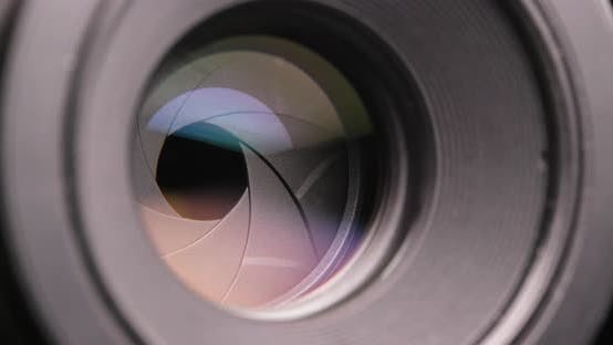 Thumbnail for Professional Camera lens zoom in and out