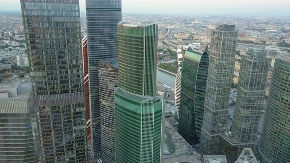 Thumbnail for A Birds Eye View of Glass Skyscrapers