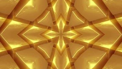 4k Symmetrical Gold Bars. Looped