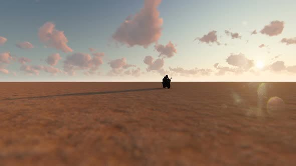Thumbnail for Motorcycle and Desert