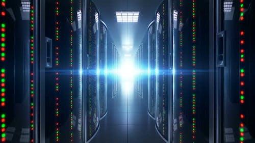 Cloud-Speicherserver im Dark Server Room