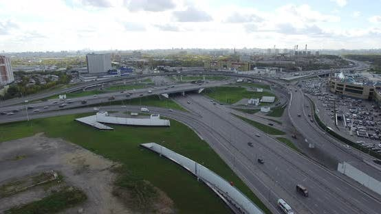 Thumbnail for Moscow Highway with Interchanges, Aerial View