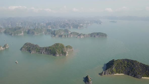 Thumbnail for Aerial View of Ha Long Bay in Vietnam