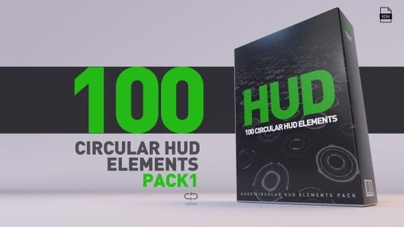 HUD Pack V1 - 100 Circular HUD Elements - product preview 0