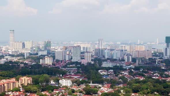 Thumbnail for Timelapse Of Penang In Malaysia Cityscape