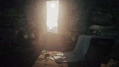 Brightly Illuminated Tomb of Jesus Christ