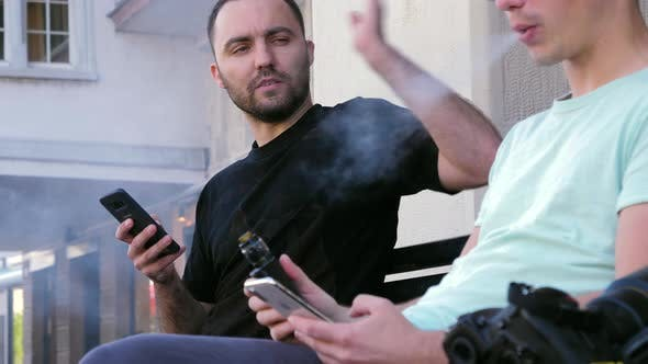 Thumbnail for Care for a Smoke? No Thanks! Man Does Not Like When Someone Smokes Next To Him.
