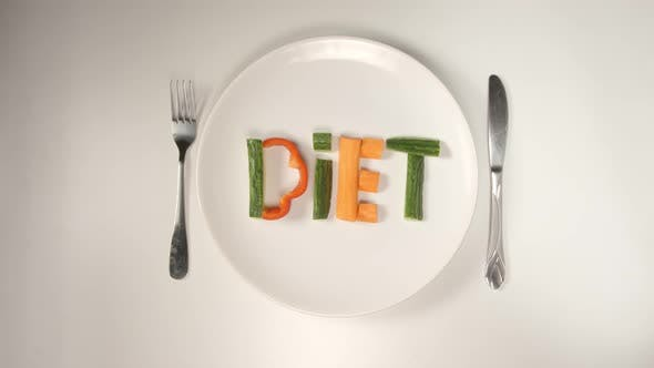 Thumbnail for Word Diet From A Vegetables On A White Dish