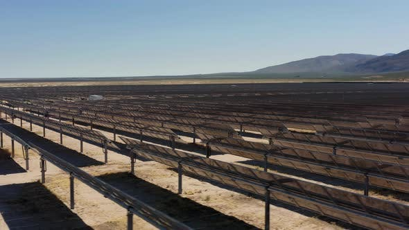 Thumbnail for Aerial Panoramic View of Solar Power Station in the Desert Nature on Sunny Day