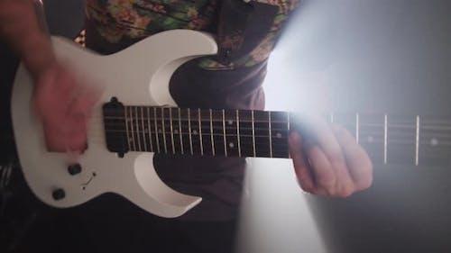 Guitar in heavy metal rock band
