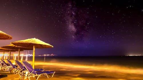 4K Timelapse Milky Way from Naxos Island, Cyclades, Greece