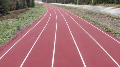 Running track.