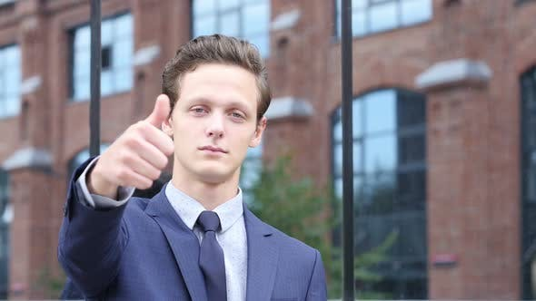 Thumbnail for Thumbs Up for Success by Businessman