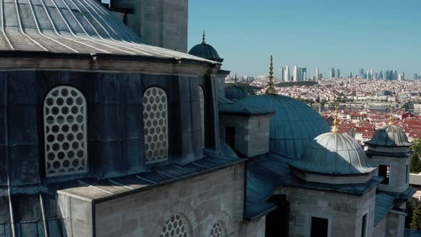 Thumbnail for Fatih Mosque Exterior Aerial View