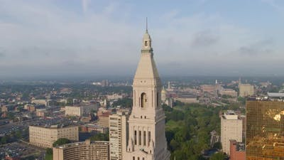 Travelers Tower and Commercial buildings in Hartford