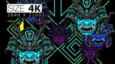 Japanese Neon Mask 02