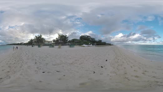 Thumbnail for 360 VR Resort on the Coast and Family Running Along the Beach, Mauritius