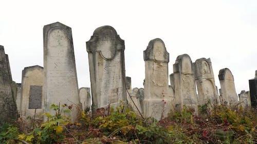 Old Jewish tombstones