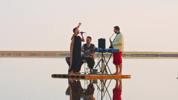 Thumbnail for Music Performance in the Middle of the Sea, Music Instruments and Singing,
