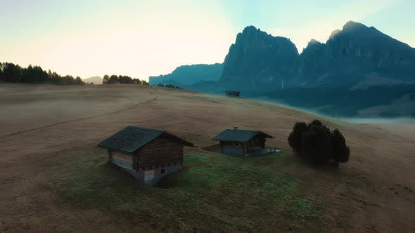 Thumbnail for Autumn Morning and Bright Misty Sunrise in the Valley of Compaccio