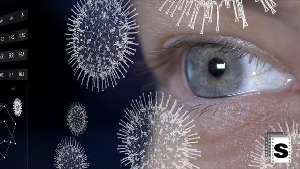 Covid-Virus-Auge