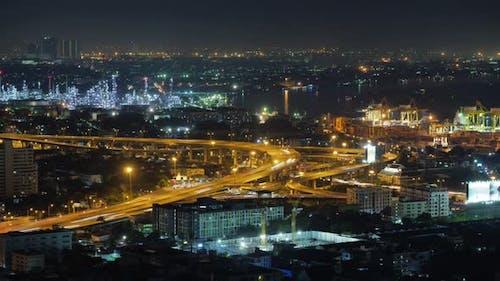 Time lapse view of Bangkok city.