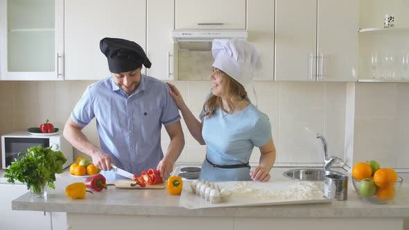 Thumbnail for Happy Family Is Cooking in The Kitchen