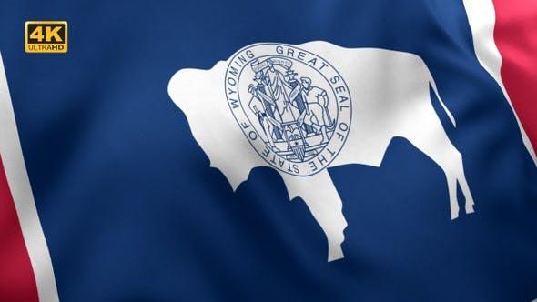 Thumbnail for Wyoming State Flag - 4K