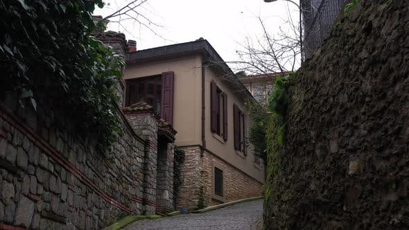 Thumbnail for Istanbul Bosphorus Old Houses And Ramp Aerial View