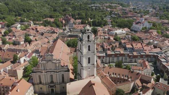 Thumbnail for Aerial Panorama of Vilnius Old Town