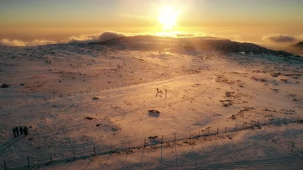 Beautiful Mountain Sunny Evening, Mountain Under Sky