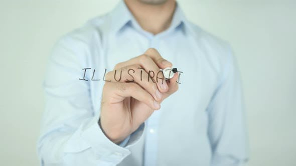 Thumbnail for Illustration, Writing On Screen