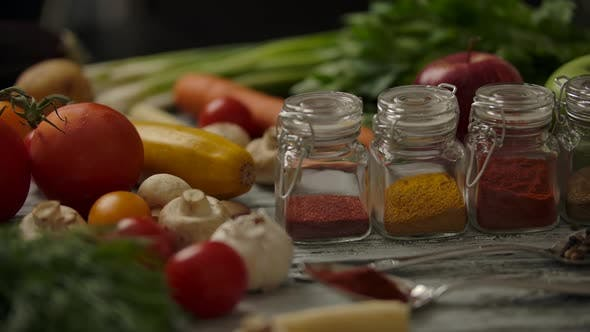 Thumbnail for Vegetables and Spices on Kitchen Table