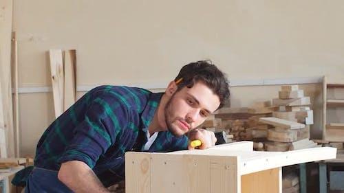 Handsome Joiner Work in Carpentry