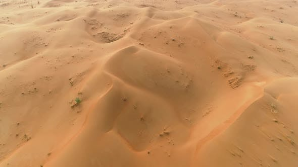 Thumbnail for Aerial view above of desert landscape, U.A.E.