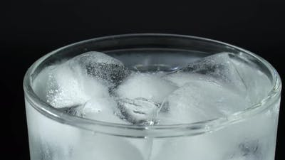 Glass is Filled with Soda Water