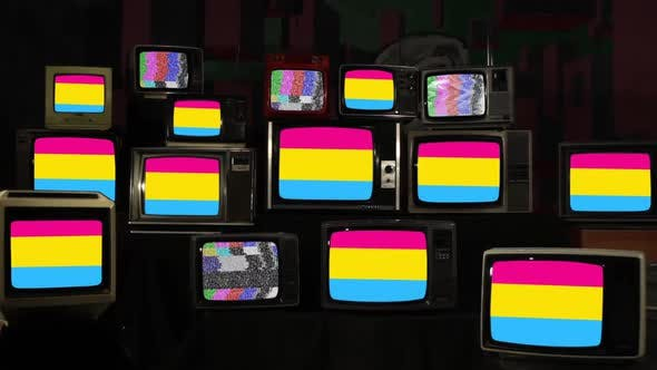 Thumbnail for Pansexual Pride Flags on Retro TV Stack Installation.