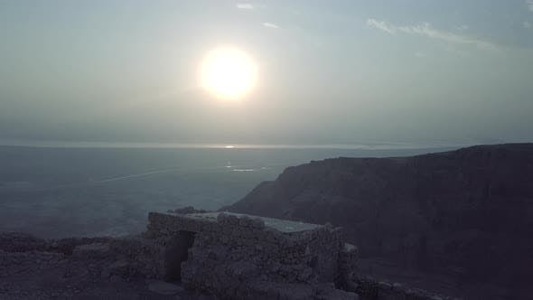 Thumbnail for Morning Sun in Israel Desert, Remains of Masada Fortress
