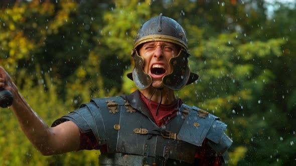 Thumbnail for Roman soldier,  ultra slow motion