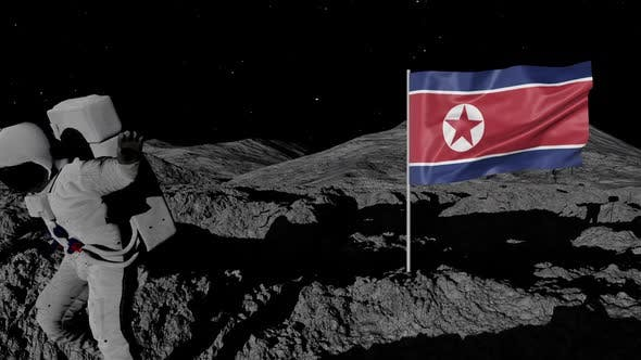 Thumbnail for Astronaut Planting North Korea Flag on the Moon