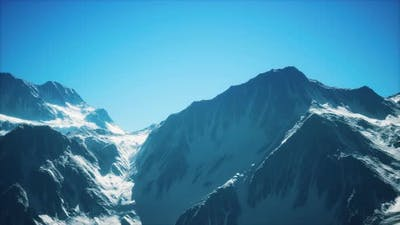 Big Mountain Peaks at Sunny Day