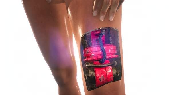 Futuristische Cyborg-Frau. Humanoide Roboterkonzept