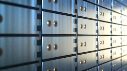 Tresorfächer in einem Bank-Tresorraum