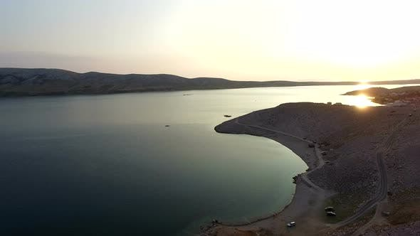 Thumbnail for Peaceful dusk on Pag island, famous holiday destination in Croatia