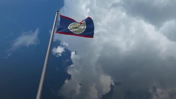 Belize Flag Waving - 2K
