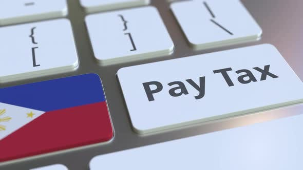 Thumbnail for PAY TAX Text and Flag of Philippines on the Keyboard