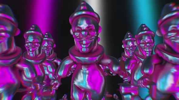Horrow metal clowns
